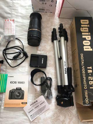 Cámara de fotos réflex Canon eos 1000D