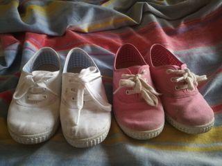 Zapatos de niña num 27 batilas suela caucho