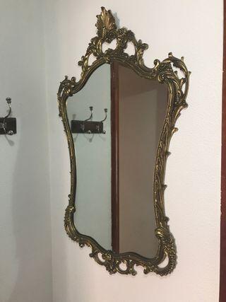 Espejo antiguo de bronce