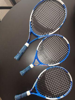 3 raquetas de Tenis. 2 para niños y 1 mediana