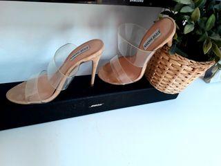 zapatos transparentes de tacón 37