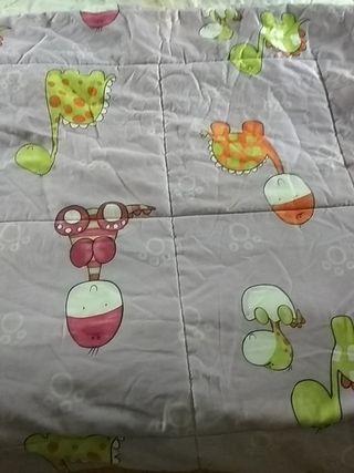 Edredón infantil guateado para cama 90cms