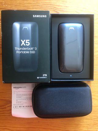 Disco duro Samsung SSD X5 2TB