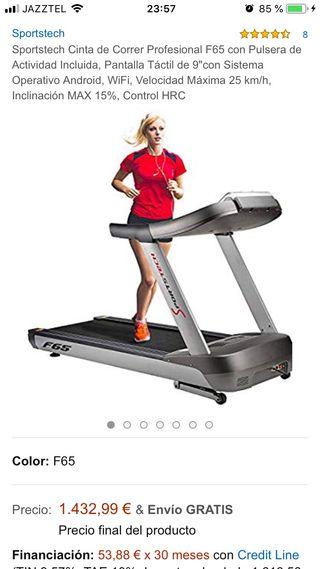 Cinta de andar, correr, entrenar.