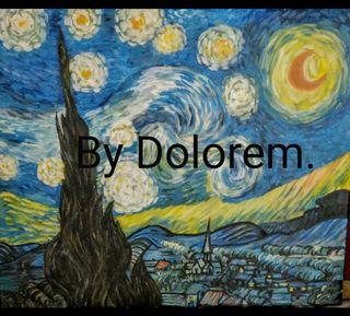 Cuadro pintado a mano.Van Gogh.