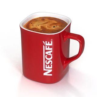 Dos tazas Nescafe color rojo