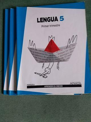 Libros de 5 de primaria de Lengua.ANAYA.