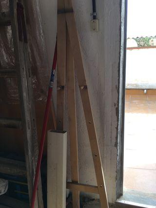 Caballete de pintura de madera, grande
