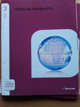 3 eso, Atlas de Geografia, santillana