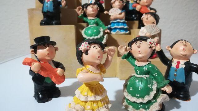 Lote figuras flamenco+plaza