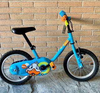 "Bicicleta azul 12"" nueva con etiqueta"