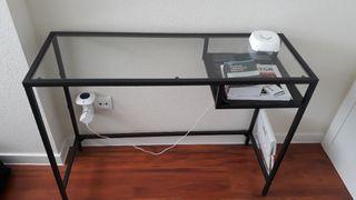Mesa escritorio cristal estrecha