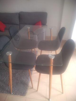 mesa de comedor o cocina de cristal URGE