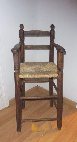 Trona de madera silla para bebés y niños