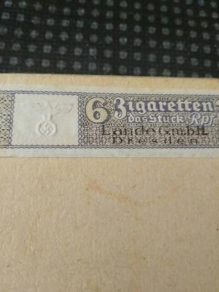 Paquete de tabaco nazi,2 guerra mundial