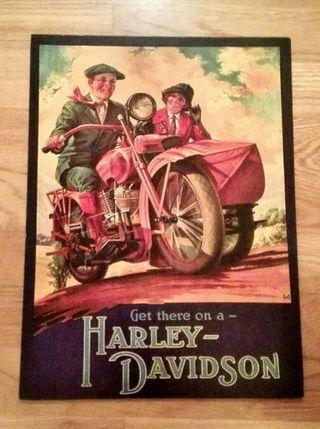 Anuncio clásico de Harley Davidson.