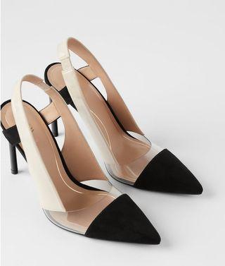 zapatos negros tacon zara num 36