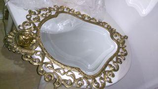 Espejo y aparador recibidor antiguos