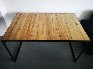 Mesa comedor estilo industrial/vintage