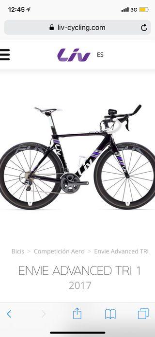 Bicicleta de carretera Liv Envie Advanced Tri