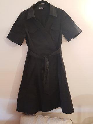 Vestido Adolfo Dominguez negro Talla 40 ( M)