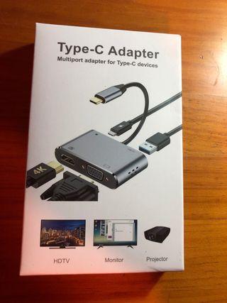 NUEVO. Adaptador USB-VGA