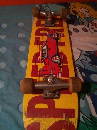 skate con las gomas nuevas