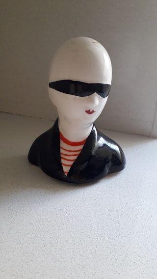 Figura punky ceramica Años 80