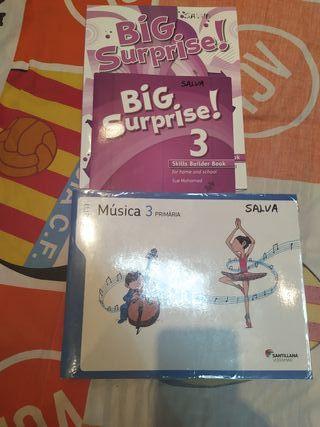 libros de 3 primaria de ingles y música