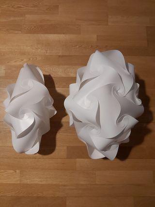 Tulipas de plástico para lámparas de techo