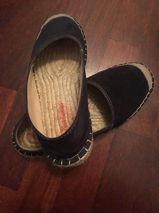Zapatos esparto azul marino