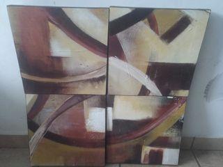 conjunto 4 cuadros.