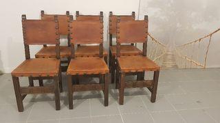 6 sillas antigua Castellana