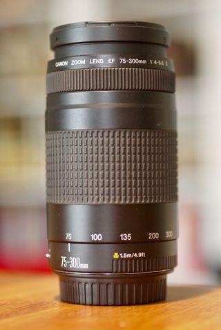 Objetivo Canon Zoom 75-300