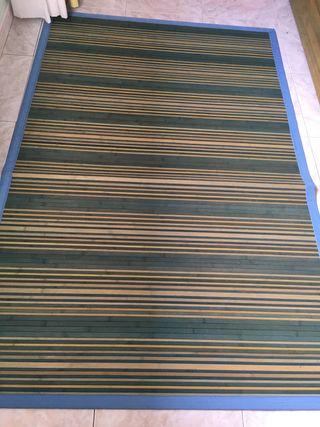 Alfombras de tiras de madera de bambú