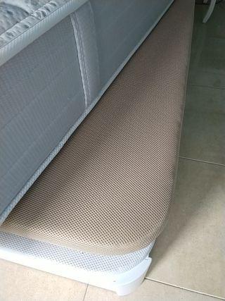 Base tapizada colchón