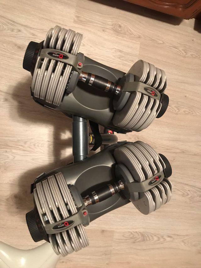 Mancuernas automaticas ajustables de 5-32,5kg
