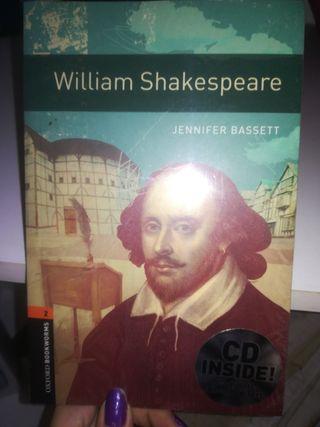 Libro en inglés sobre William Shakespeare, con CD