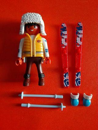 Playmobil esquiador esquí
