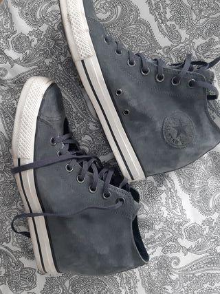 Zapatillas cuña- Converse - All Star- 42- gris de