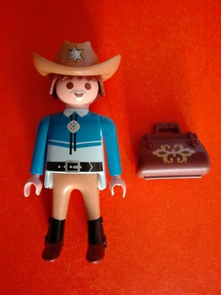 Playmobil figura oeste vaquero pistolero