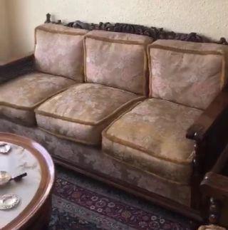 Sofás y sillones madera de los años 40