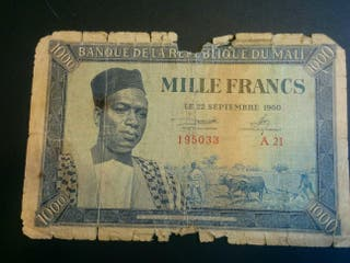 MALI Billete de 1000 francos 1960