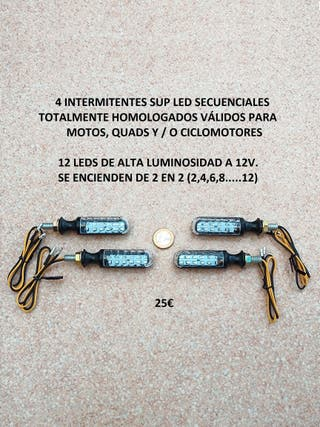 4 intermitentes led sup dinámicos homologados