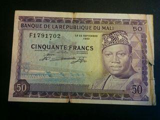 MALI Billete 50 francos 1960