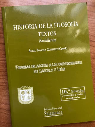 Textos Historia de la Filosofía Bachillerato