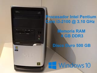 Ordenador Core i3 @ 3.10 GHz/4 GB/500 GB/WiFi/W10
