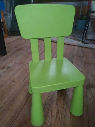 mesa, silla y taburete de niños