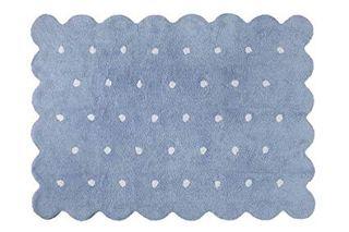 Alfombra Lorena Canals lavable Galleta azul