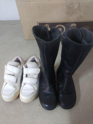 2 pares zapatillas niña n° 29 y 30